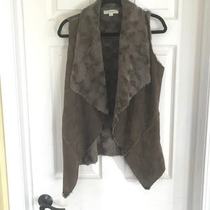 Brown Faux Fur vest Size S from Dry Goods
